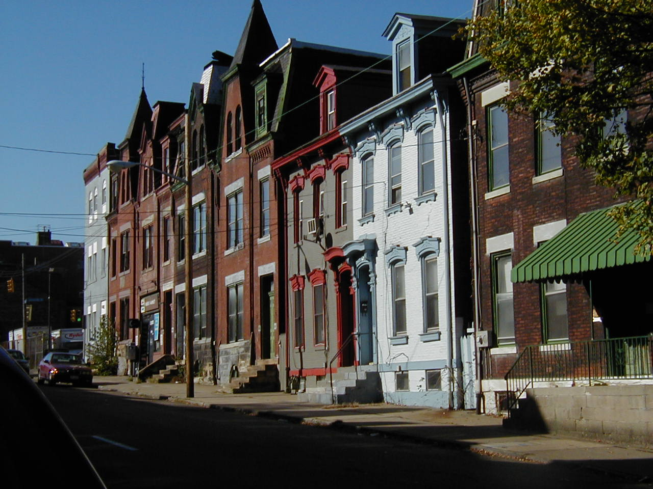 Fronts of houses in Bloomfield